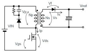 图 18:反激方式(连续模式时)