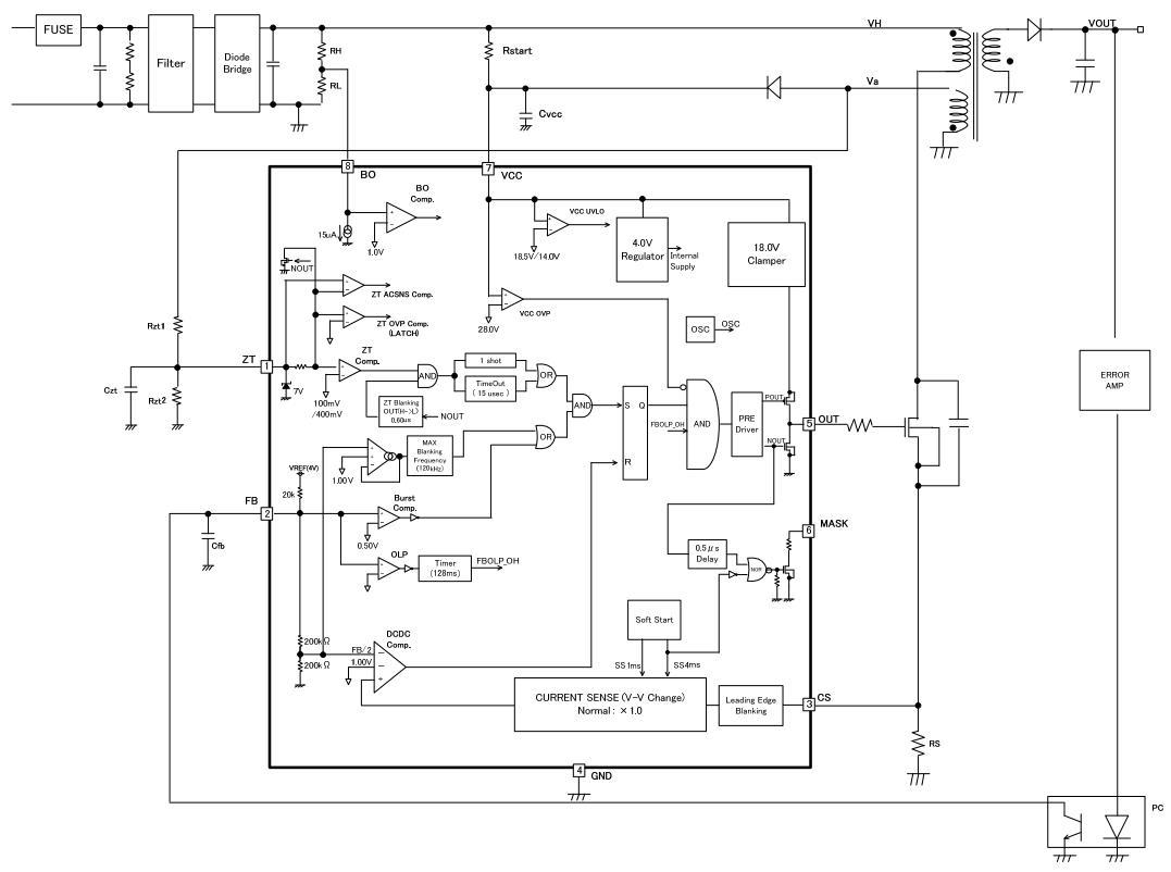 效率显著提高  准谐振方式(低emi) sic-mosfet驱动闸极箝位元电路