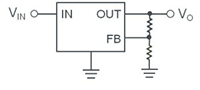 圖1: 一般線性穩壓器