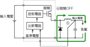 圖37: 開關OFF時之電流途徑